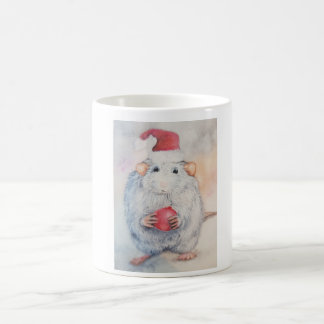 Christmas sweet mouse with red Christmas tree toy Coffee Mug