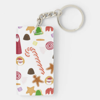 Christmas Sweeties Candies, Peppermints Candy Cane Keychain
