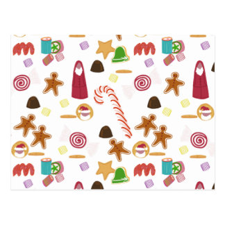 Christmas Sweeties Candies, Peppermints Candy Cane Postcard