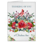 Christmas Sympathy Card | Bouquet & Cardinal