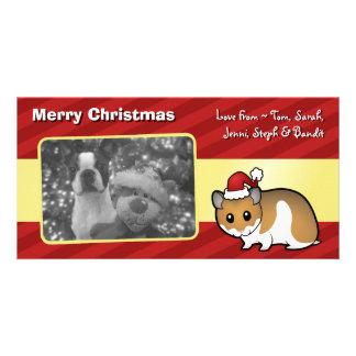 Christmas Syrian Hamster Customized Photo Card