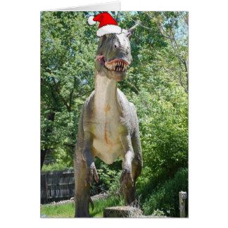 Christmas T-Rex Card