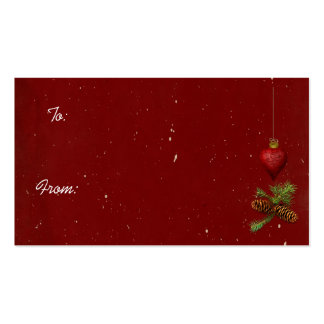 Christmas Tags Business Card Template