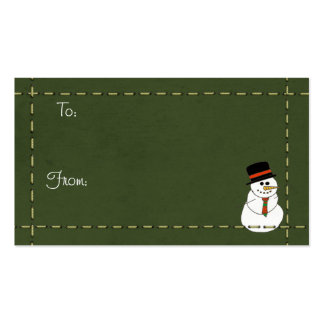 Christmas Tags Business Card Templates