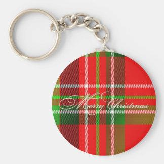 Christmas Tartan Keychain
