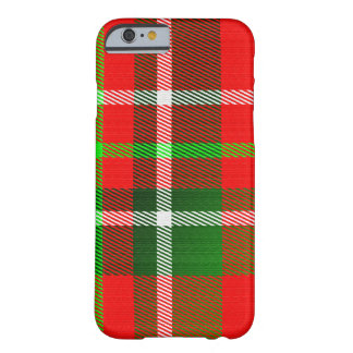 Christmas Tartan Pattern Barely There iPhone 6 Case