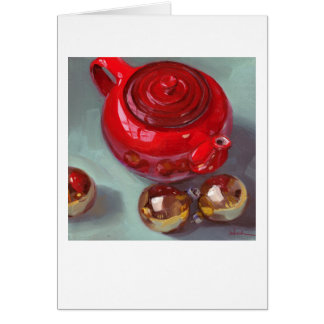 """Christmas Tea"" Greeting Card by Sarah Sedwick"