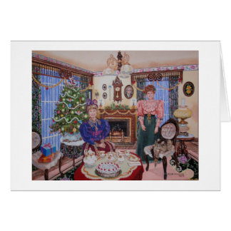 Christmas Tea in the Parlor Card