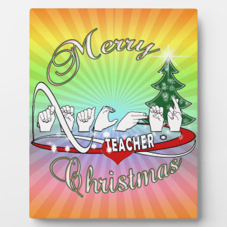 CHRISTMAS TEACHER FINGERSPELLED ASL PLAQUE