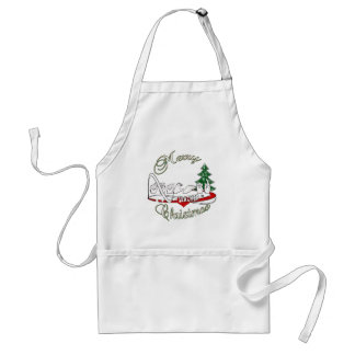 CHRISTMAS TEACHER FINGERSPELLED ASL STANDARD APRON