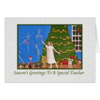 Christmas, Teacher, Nutcracker Ballet Card