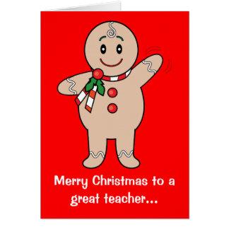 Christmas Teacher's Card: Gingerbread Boy