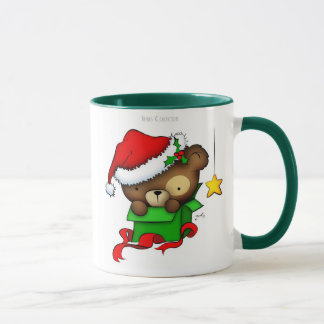 Christmas Teddy Bear Box mug