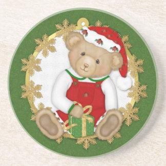 Christmas Teddy Bear - Boy Coaster