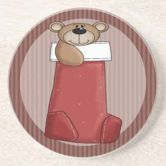 Christmas Teddy Bear Coaster