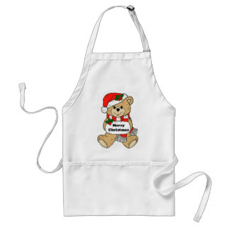 Christmas Teddy Bear Message Standard Apron