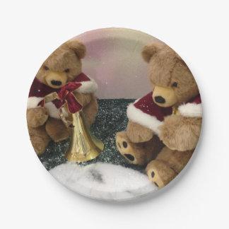 Christmas Teddy Bear Paper Plates