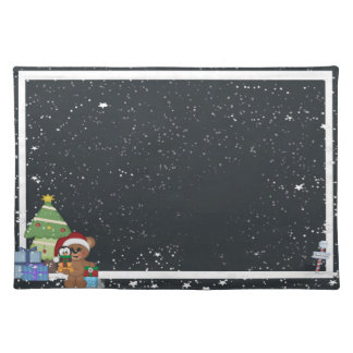 Christmas Teddy Bear Placemats