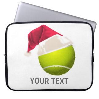 Christmas Tennis Ball Santa Hat Laptop Computer Sleeves