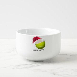 Christmas Tennis Ball Santa Hat Soup Mug