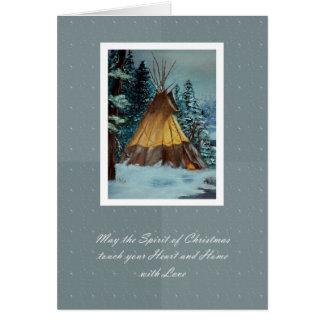 Christmas Tepee Card / Christmas Tipi