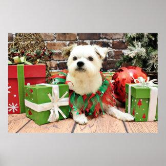 Christmas - Terrier X - Anko Poster