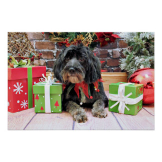 Christmas - Terrier X - Patches Poster