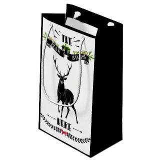 Christmas The Buck Stops Here Deer Small Gift Bag