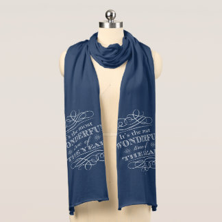 Christmas the Most Wonderful Time of The Year Scarf