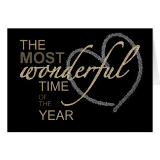 Christmas The Most Wonderful Time of Year Greeting Card