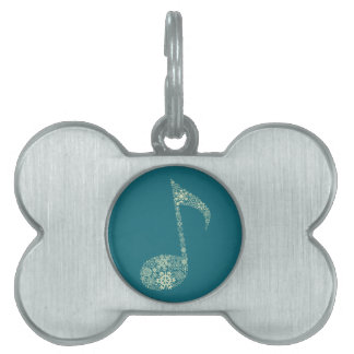 Christmas the note pet name tag