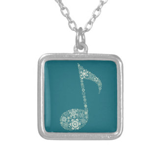Christmas the note silver plated necklace