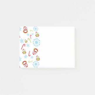 Christmas Theme Owls Candy Canes and Snowflakes Post-it Notes