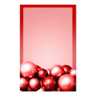 Christmas Theme Stationery Red Ornaments