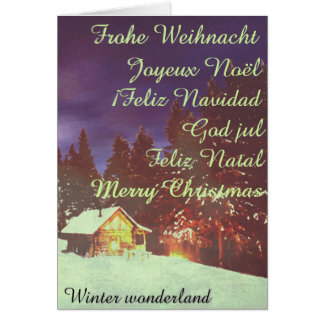 Christmas theme  Winter wonderland... Card