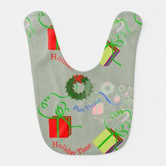 Christmas-Themed Baby's Bib