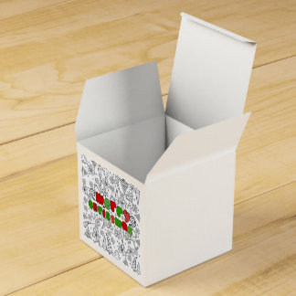 Christmas themed doodles design, kid's drawnings favor box