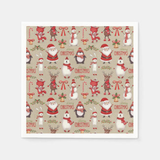 Christmas Themed Party Napkins Paper Napkin
