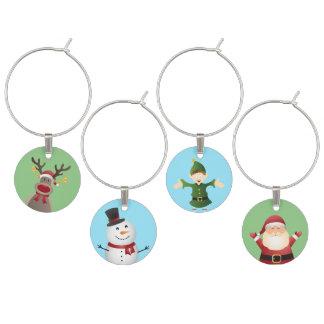 Christmas Themed Wine Charms- Holiday decor Wine Charm