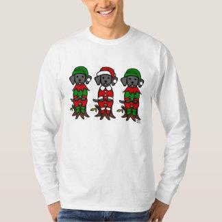 Christmas Three Black Lab Puppies T-Shirt