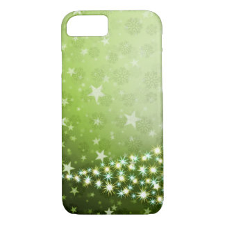 CHRISTMAS THREE GREEN ABSTRACT iPhone 7 HARD CASE