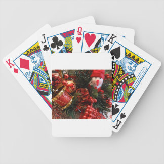 Christmas Time Bicycle Playing Cards