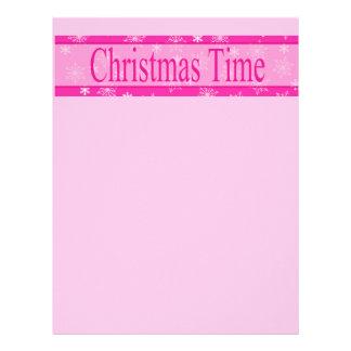 Christmas Time Christmas Letter Letterhead