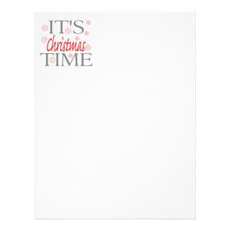 Christmas Time Christmas Letter Personalized Letterhead