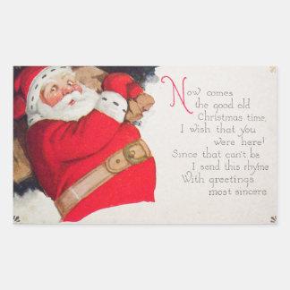Christmas Time Santa Claus Sticker