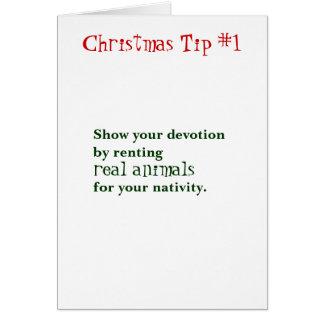 Christmas Tips Card