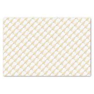 Christmas Tissue Paper/Gold Christmas Trees Tissue Paper
