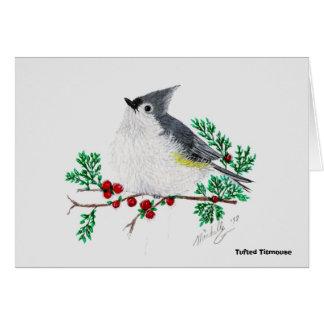 christmas titmouse, Tufted Titmouse Card