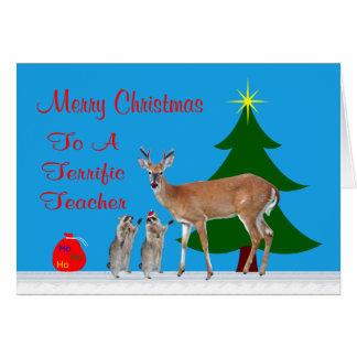 Christmas To Teacher Greeting Card