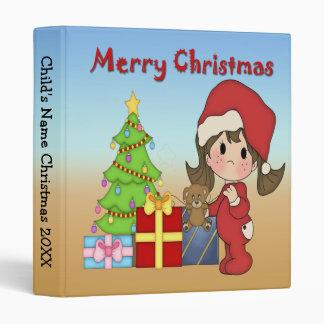 "Christmas Toddler Girl 1"" Binder"
